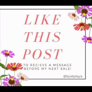 LIKE THIS POST TO BE NOTIFIED OF MY NEXT SALE!